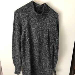 Charcoal Gray Marl Sweater Dress